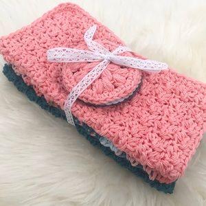 Handmade Cotton Washcloth Makeup Remover Set of 3